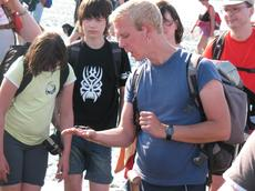 Wattführer Tammo mit Gruppe